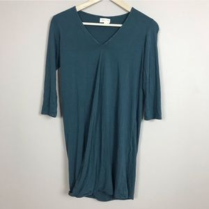 anthropologie | faux wrap mini shift dress